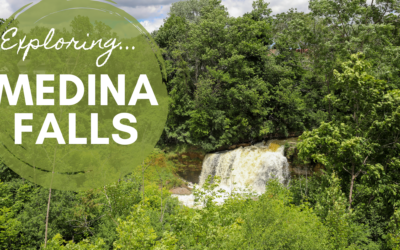 Exploring Medina Falls, New York